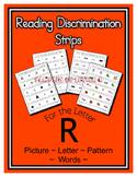 Letter R Reading Discrimination Strips for Fluency and Alp