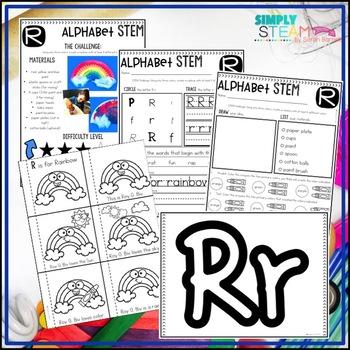 Letter R STEM Challenge | Letter R Activities