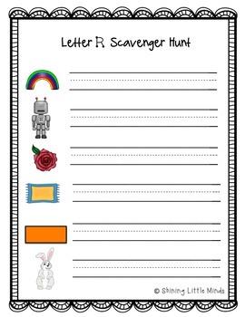 Letter R Scavenger Hunt