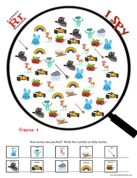 Letter R Sound I Spy - Search to find and count the objects