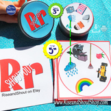 "Letter R Sound Matching Game Shout Out; 3"" & 5""Cards artic"