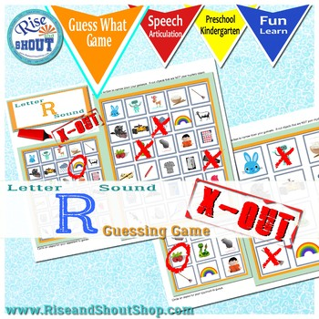Letter R Sound X-out; Guessing Game; articulation, questions #jun17slpmusthave