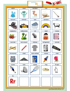 Letter R Sound X-out; Guessing Game; articulation, questions, guess who and what