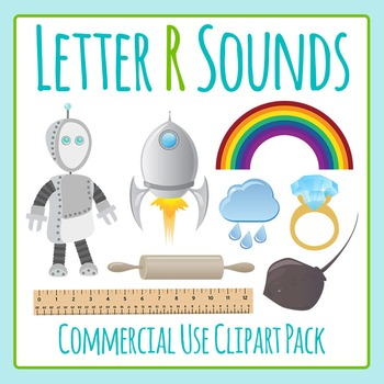 Letter R Sounds Clip Art Pack for Commercial Uses