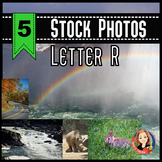Letter R Stock Photos of River, Rainbow, Road, Rhino, and Rabbit.