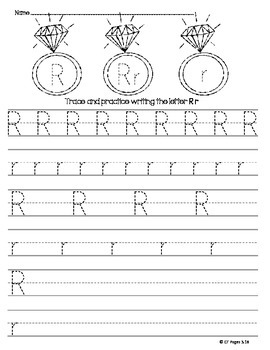 letter r trace by ct pages teachers pay teachers. Black Bedroom Furniture Sets. Home Design Ideas