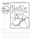 Letter R Trace and Write Worksheet Pack