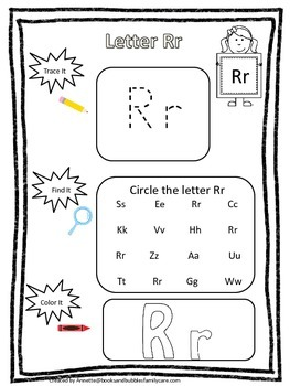 "Letter ""R"" Trace it, Find it, Color it.  Preschool printab"