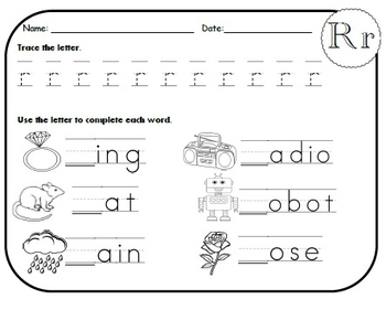 Letter R Worksheets!