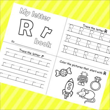Letter R booklet
