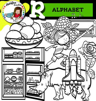 Letter R clip art set