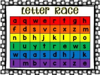 **Freebie** Letter Races