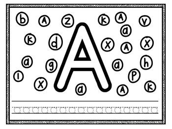 letter recognition kindergarten letter recognition worksheets tpt. Black Bedroom Furniture Sets. Home Design Ideas