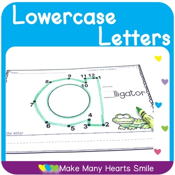 Dot to Dot Lowercase Letters