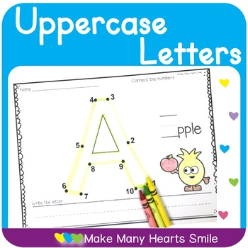 Dot to Dot Uppercase Letters