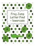 Letter Recognition - Frog Jump Letter Find for LOWERCASE LETTERS