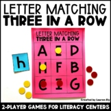 Letter Recognition -  3 in a Row Games - Kindergarten Lite