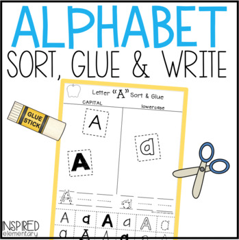 A-Z Sort and Glue Literacy Center