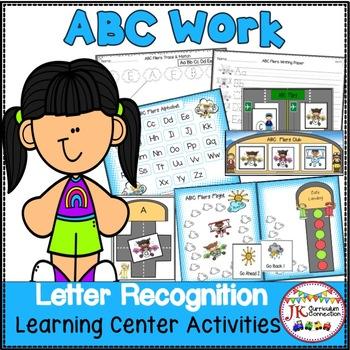 Letter Recognition Literacy Center Activities - ABC Fliers