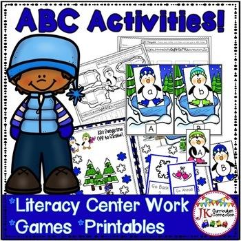 Letter Recognition! - Penguin ABC's  Literacy Center Activities