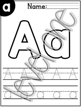 Letter Recognition ABC Worksheets Upper & Lower Case Differentiated/Scaffolded