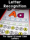 Letter Recognition Worksheets for Preschool & Kindergarten Differentiated