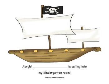 Letter Recognition Activities with a Pirate Theme