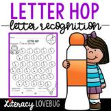 Letter Recognition Letter Hop Activity