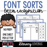 Letter Recognition Font Sorts Activity