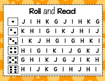 Letter Recognition Activity - (ALPHABET) - Roll and Read