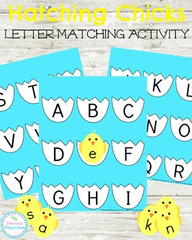 Letter Recognition Activity - Hatching Chicks