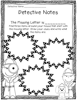 The Case of the Missing Letter {Letter Recognition Activity} Common Core Aligned