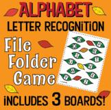 Letter Recognition- Alphabet- FILE FOLDER GAME- uppercase