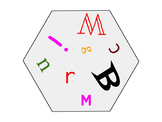 ABC Flashcards - Letter Recognition - 57 Hexagon Shaped Alphabet Flash Cards
