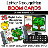 Letter Recognition Apple Match Drag and Drop Digital BOOM Task Cards {NO PREP!}