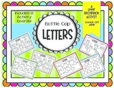 Letter Recognition Area Activity- Bottle Cap Letters