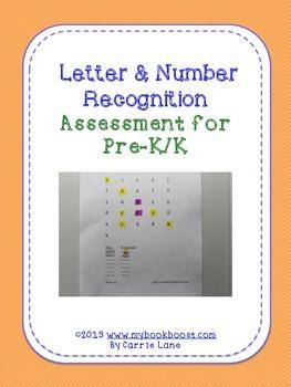 Letter & Number Recognition Assessment