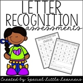 Letter Recognition Assessments
