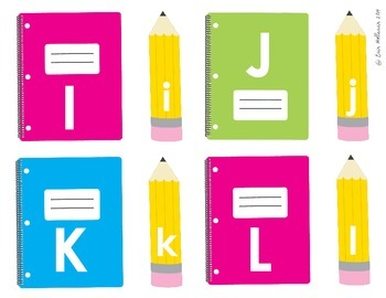 Letter Recognition Back to School