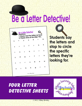 Letter Recognition: Be a Letter Detective!