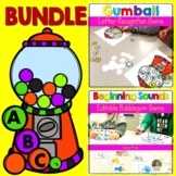 Letter Recognition Beginning Sound Bubblegum Game BUNDLE