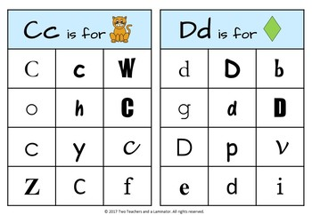 Letter Recognition Boards