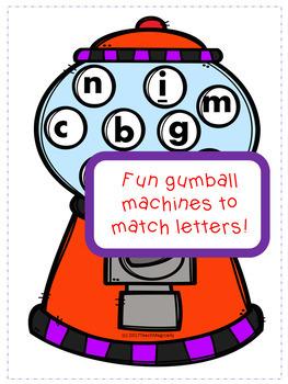 Letter Recognition Bubble Gum Game