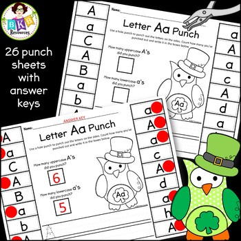 Letter Recognition Bundle ● Letter Sort ● Roll and Write ● St. Patrick's Day