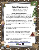 Letter Recognition- Camping Themed Lightning Game""