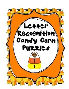 Alphabet Letter Recognition Candy Corn Puzzle Literacy Cen