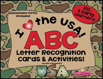 Letter Recognition Cards, Assessments, and Activities  RF.K.1d