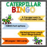 Letter Recognition (Caterpillar Bingo)