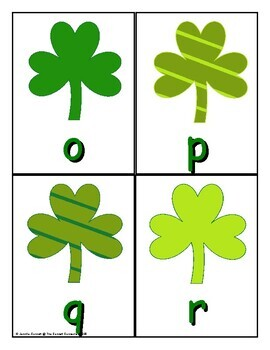 Letter Recognition Center or Whole Group Game for St. Patrick's Day