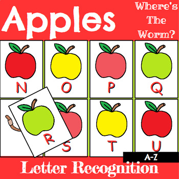 Letter Recognition Center or Whole Group Game with Apples